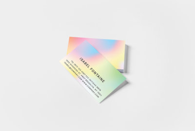 color faded rainbow business cards