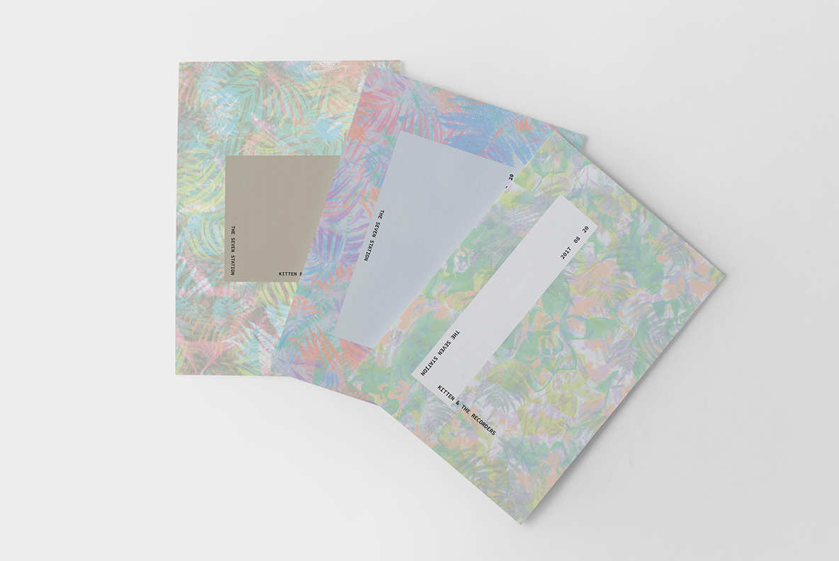 three floral tropical flyers