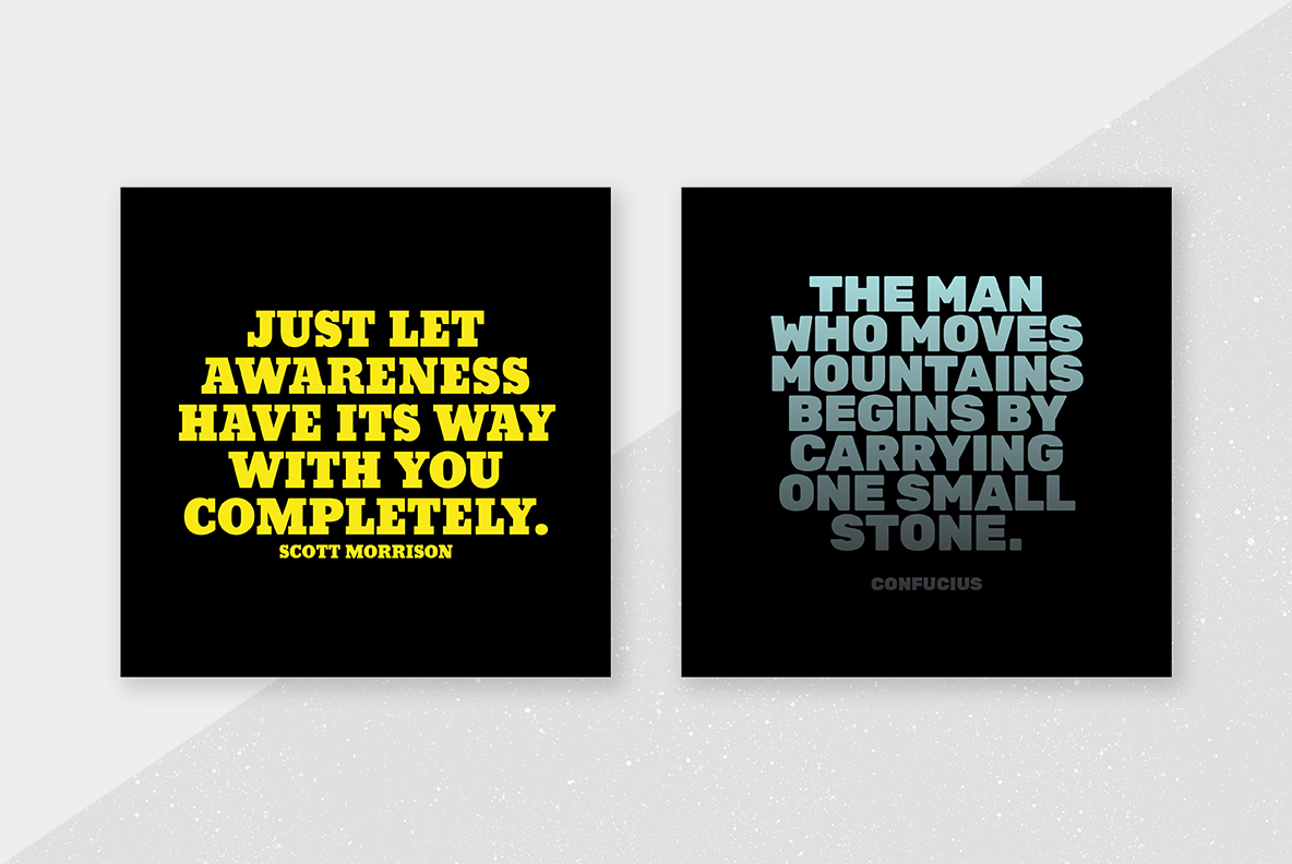 Social Media Quote Photoshop Template