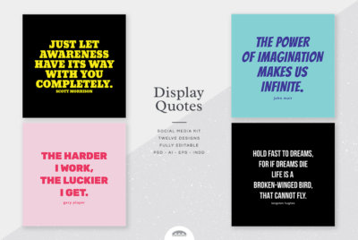 Display Quotes Social Media Kit