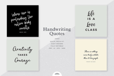 Handwriting Script Quotes Social Media Kit