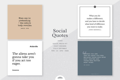 elegant social media design templates