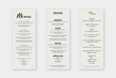 catering menu design templates