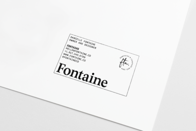 designer or boutique stylish business card stamped put on paper