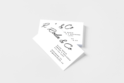 rubber stamp business card