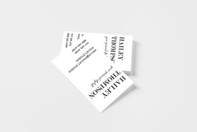 rubber business card stamp vertical, contemporary stylish designs
