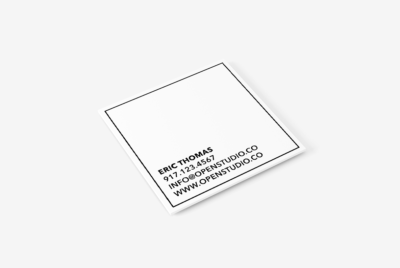 square rubber stamp business card