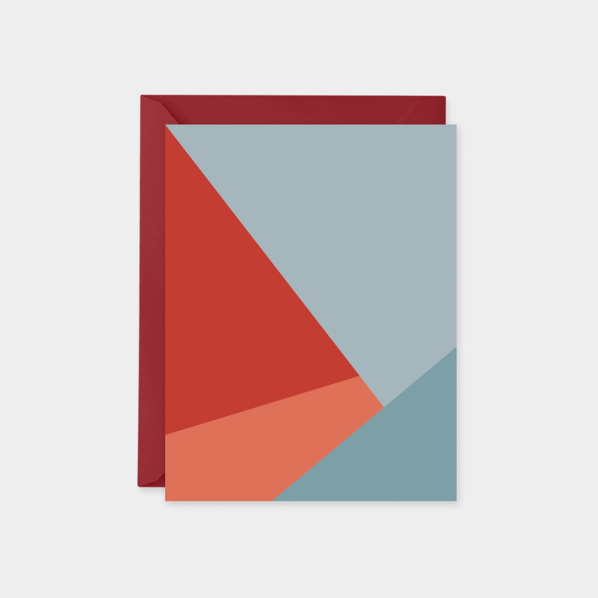red and blue color block card set