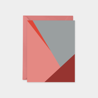 gray red color block design collection