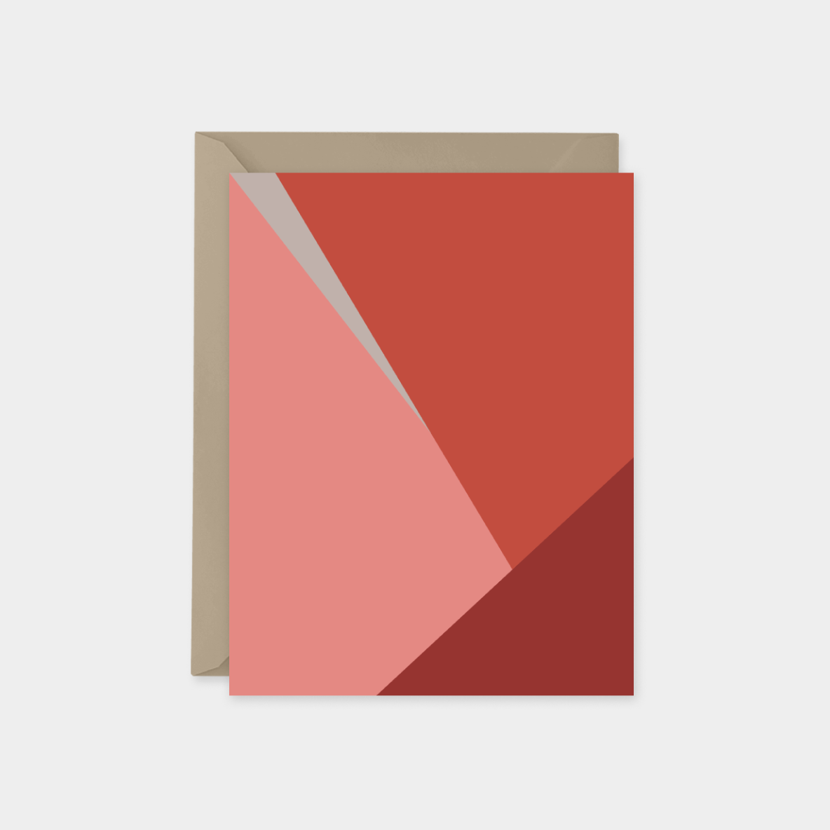 red and coral color block a2 card