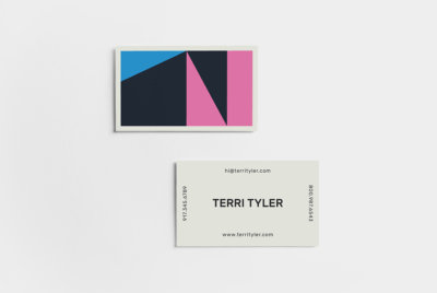 color block business card template kit
