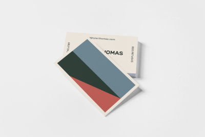 color block business card collection
