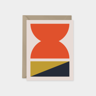 orange midcentury modern cards
