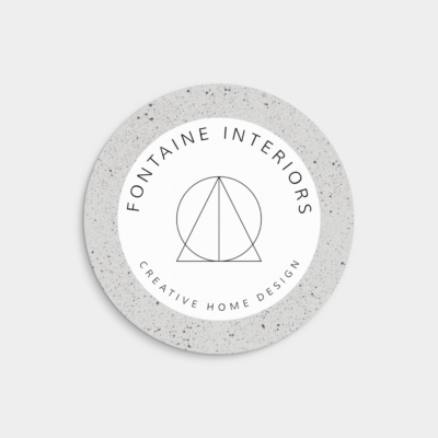 minimalist circle product label design
