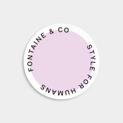 pastel round label template