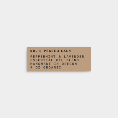 minimal vintage label design template 2.625x1