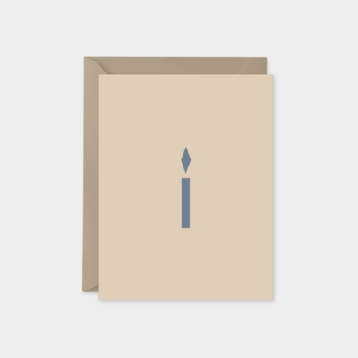 simple candle holiday card