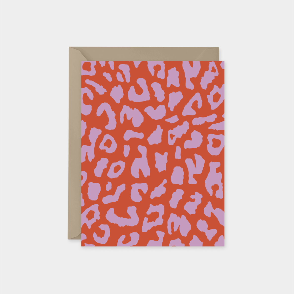 pink and orange leopard print a2 card