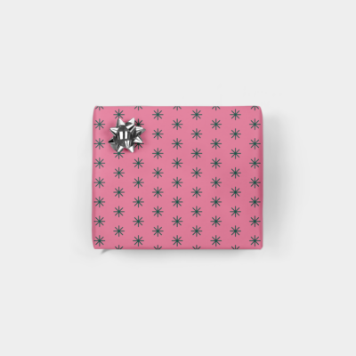 minimal star holiday gift wrap