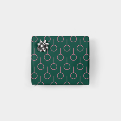 minimal ornament holiday gift wrap
