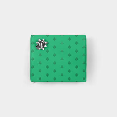 christmas trees minimalist holiday gift wrap