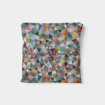 color shards quilt pattern gift wrap