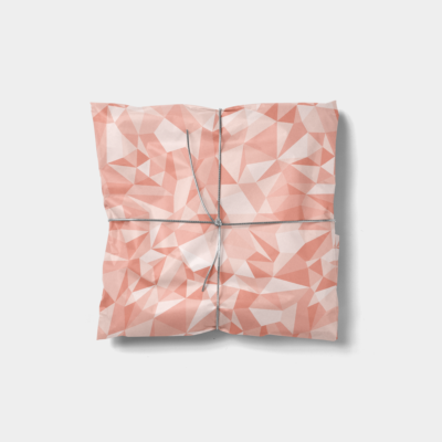 creative light pink gift wrap