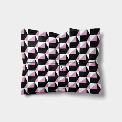 geometric shapes gift wrap