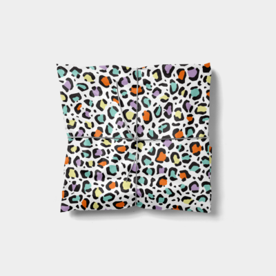 colorful leopard print gift wrap