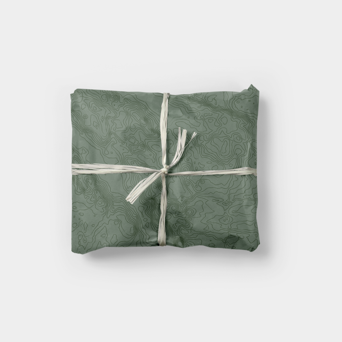 topographic map gift wrap