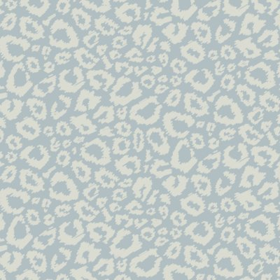 blue and cream scribble leopard print gift wrap