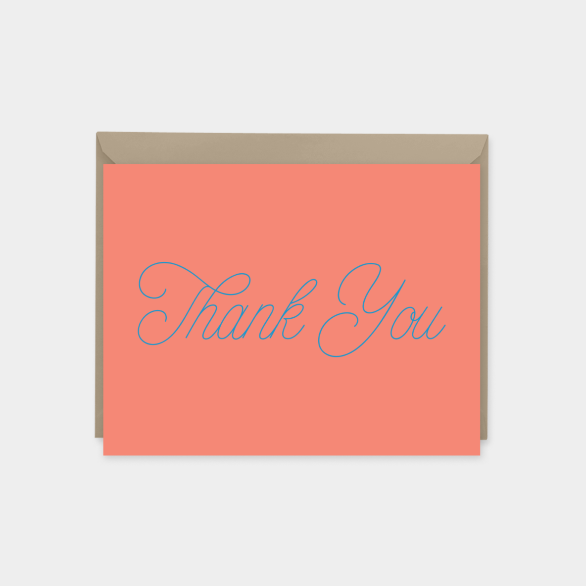 colorful thank you card script font