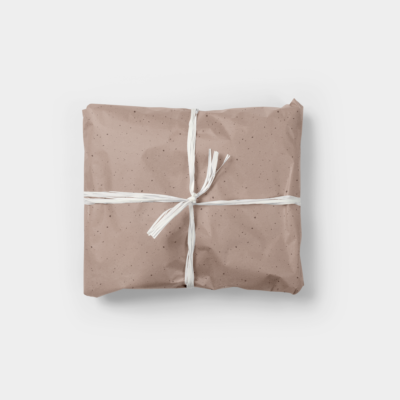 terracotta flecked gift wrap