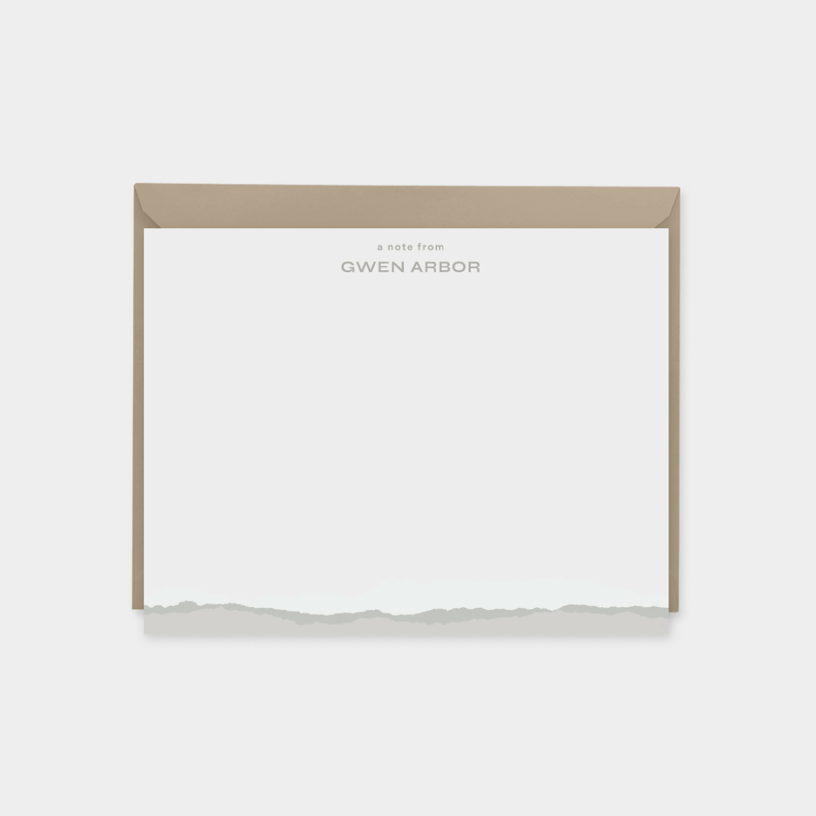 Custom Personalized Torn Paper Note Cards