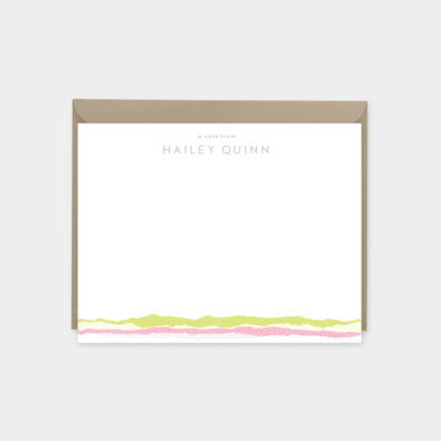 Custom Personalized Torn Paper Note Card