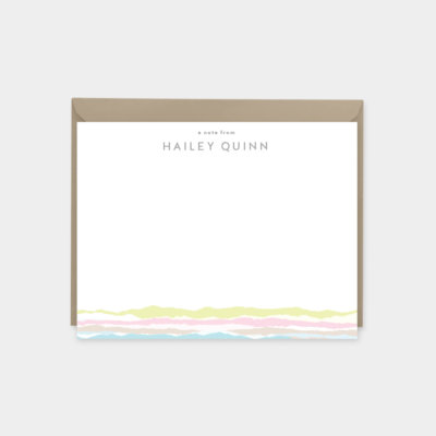 Personalized Torn Paper Note Cards