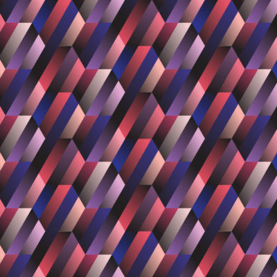 hexagon gradient tiles wrapping paper