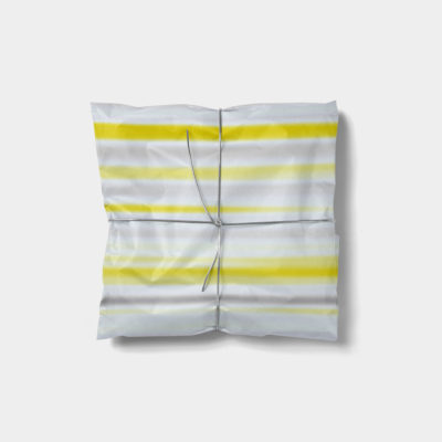 blurry color stripes gift wrap