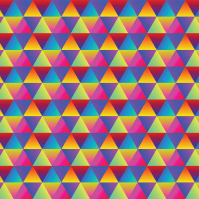 rainbow triangles gradient tile wrapping paper