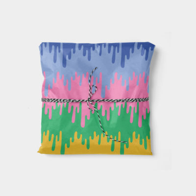 colorful drips wrapping paper
