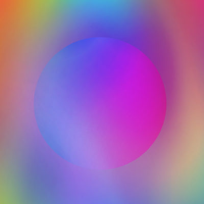 color orb wrapping paper