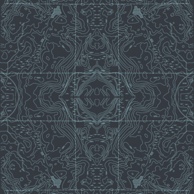 black topographic wrapping paper