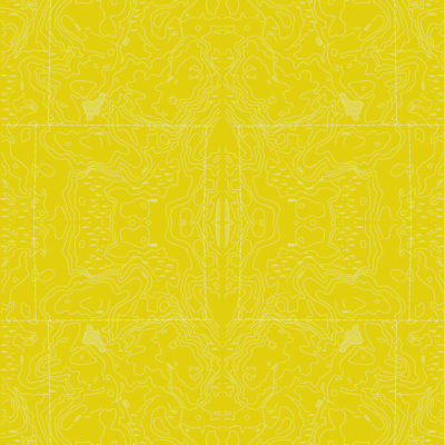 yellow mosaic topographic wrapping paper