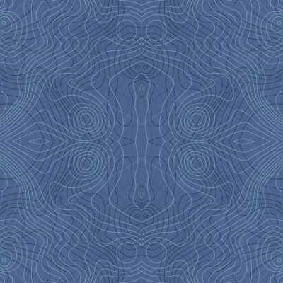 dusty blue mosaic topographic wrapping paper