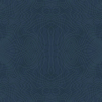 navy blue mosaic topographic wrapping paper