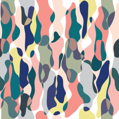 Bold Colors Camouflage Wrapping Paper