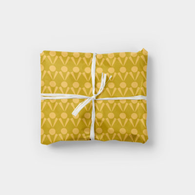 simple shapes ethnic pattern gift wrap