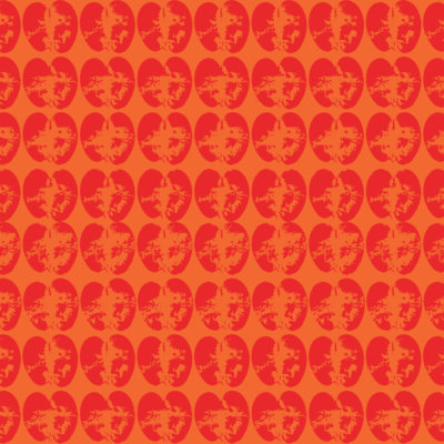 vegetable stamp wrapping paper