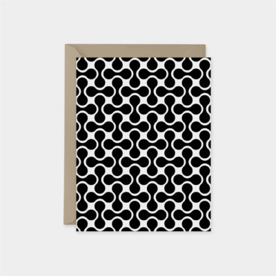 minimal 60s retro pattern card