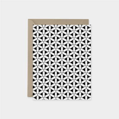 minimal tessellation pattern card